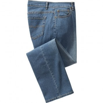 Heren-stretch-jeans,Lichtblauw