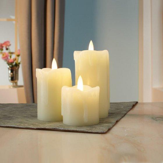 3 fonkelende led-kaarsen