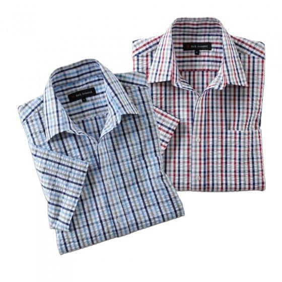 Seersucker-overhemd 'Oxford' 3XL | Set