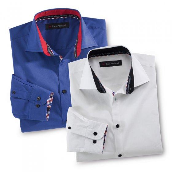 Stretchoverhemd 'Milano' XL | Royalblauw