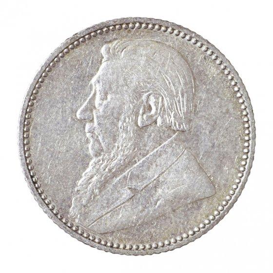 Zilveren munt 6 Pence 'Oom Krüger'