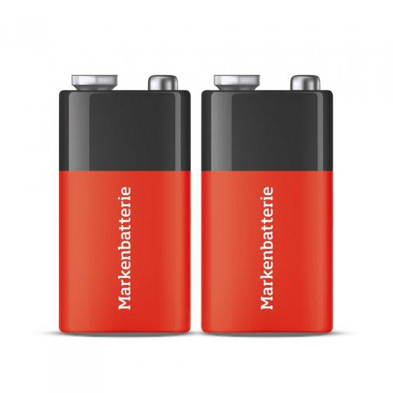 9V-blokbatterijen 2-pack