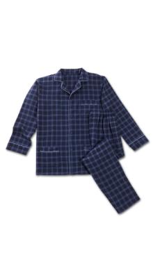Flanellen blauwe pyjama