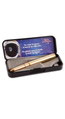 Space-Pen in echte jachtpatroonhuls