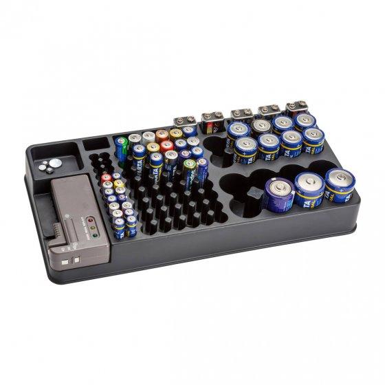 Batterijen-bewaarbox met tester