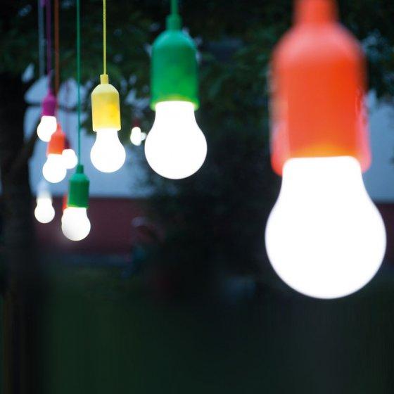 Snoerloze hanglampen 4 stuks