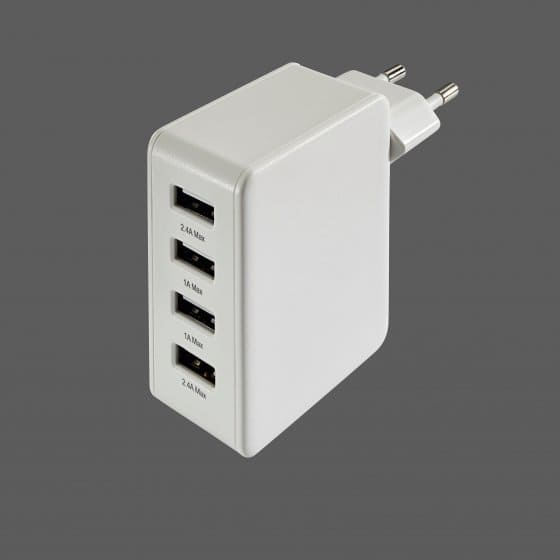 4x USB-oplader