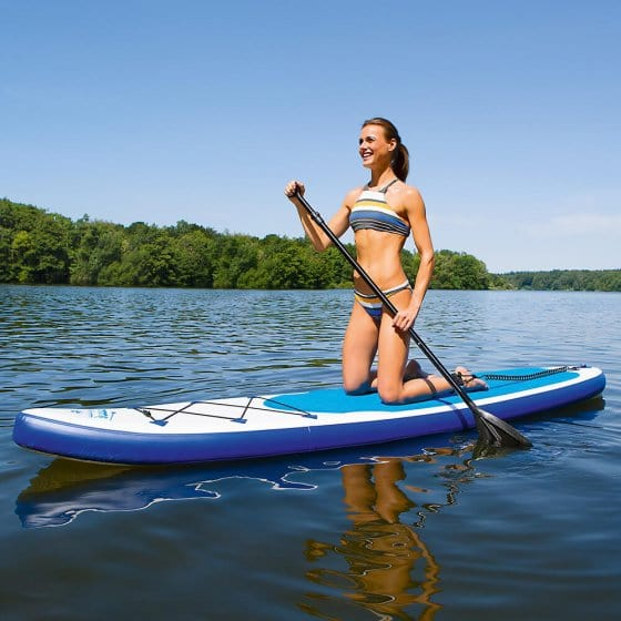 Stand-up paddle board in complete set