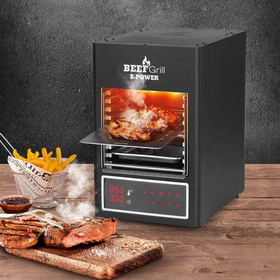Elektrische rundvleesgrill op hoge temperatuur