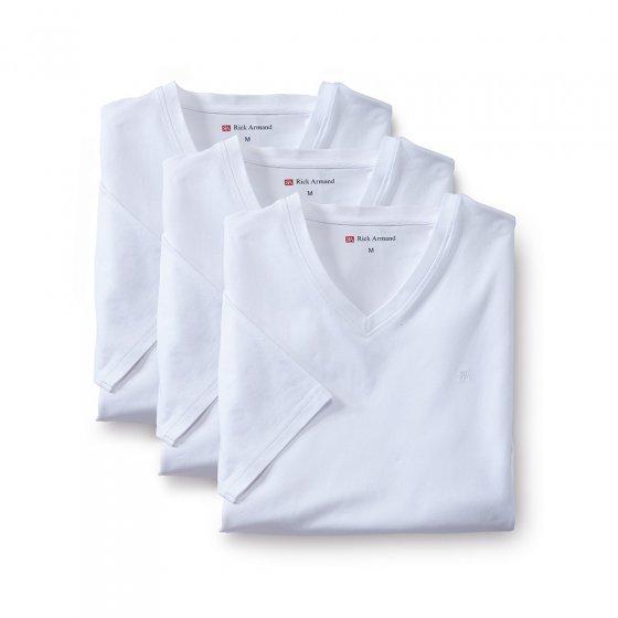Stretch-T-shirts 3 stuks XL | Wit