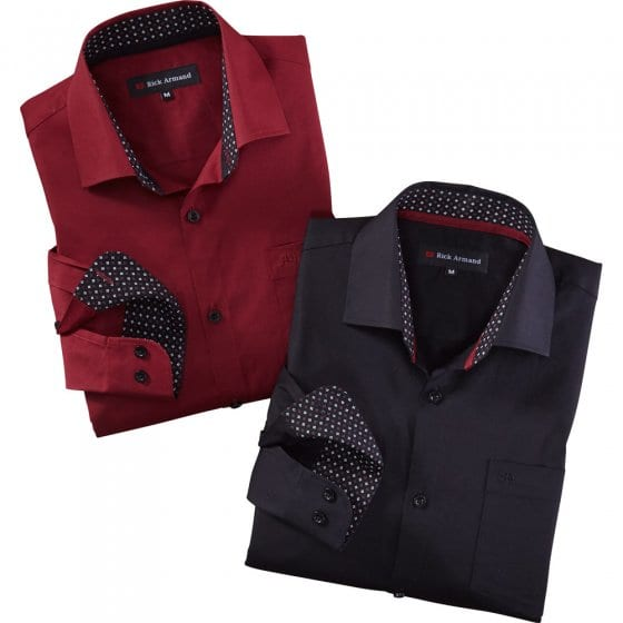 'Milano'-stretchoverhemd Set van 2