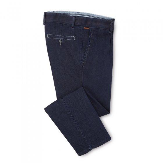 Tweekleurige geplooide jeans