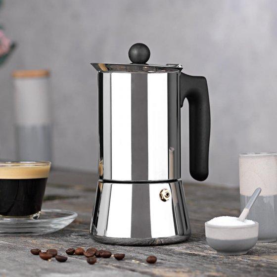 Edelstalen espressoapparaat