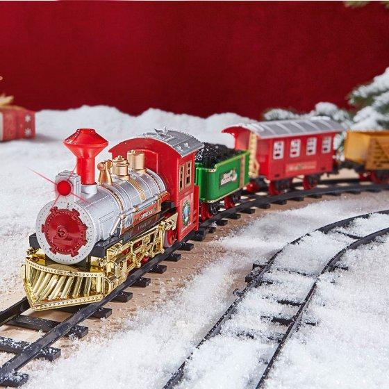 Sfeervolle kerstexpresstrein