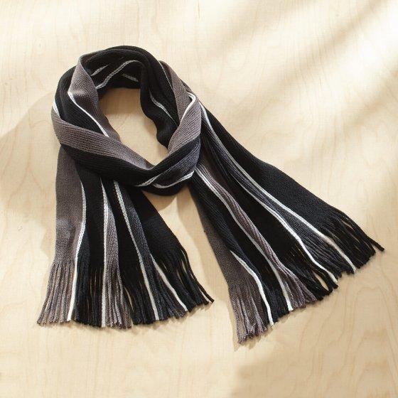 Meerkleurige, gebreide sjaal