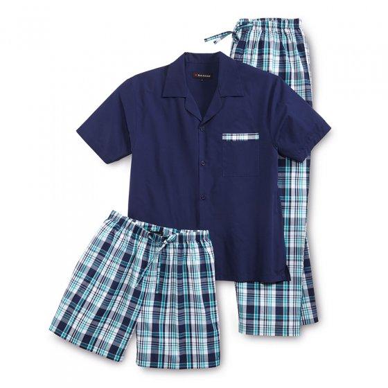 Driedelige zomerpyjama XL | Marine#groen