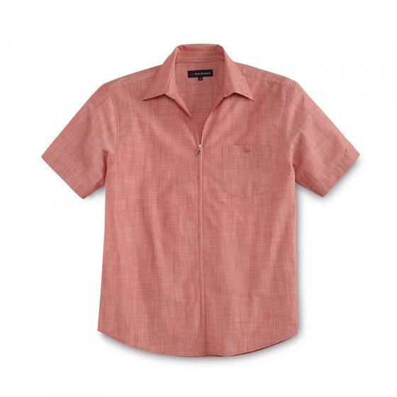 Zomeroverhemd met doorlopende ritssluiting 3XL | Wit