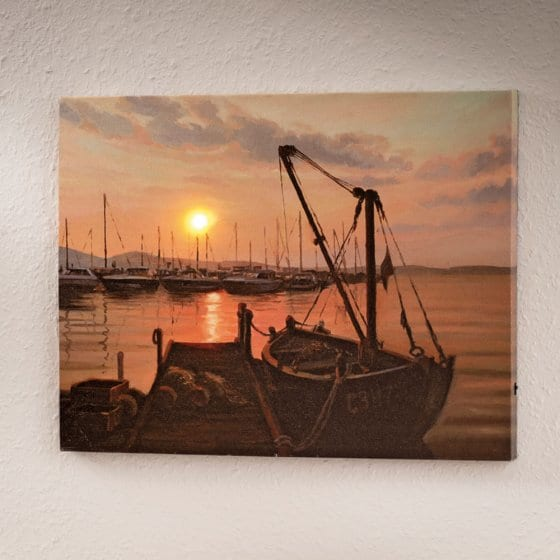 Led-artprint 'Hafen Idylle'
