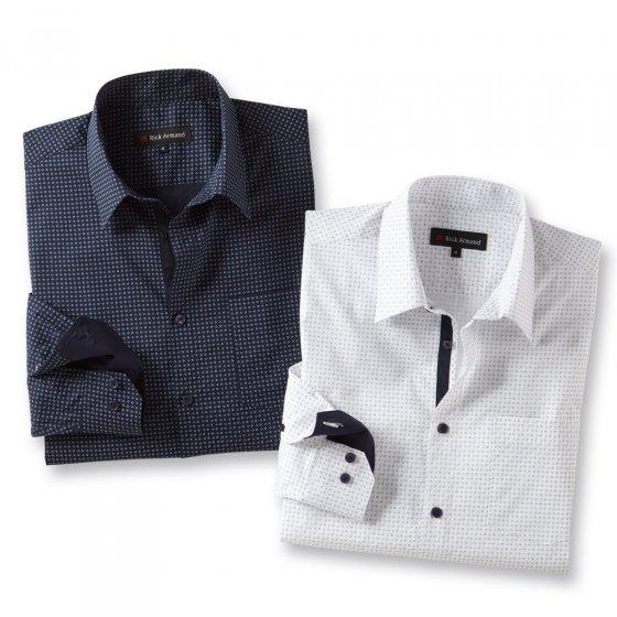 Milano-stretch-overhemd Set van 2
