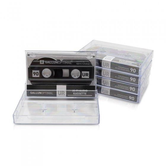 Audiocassettes, 90 minuten Set van 5
