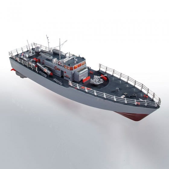 Radiografisch bestuurbare torpedoboot