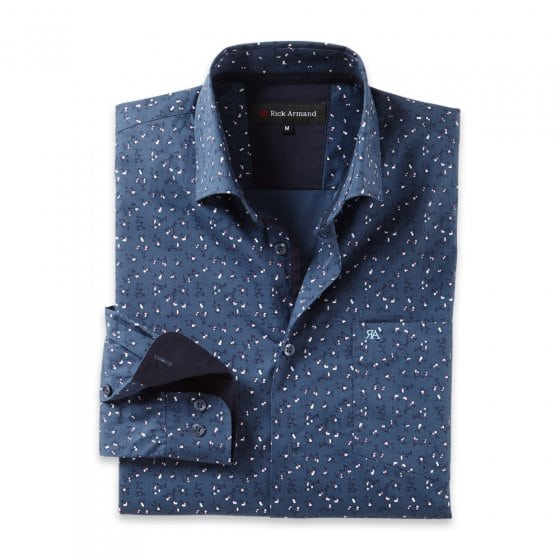 Modieus gedessineerd overhemd
