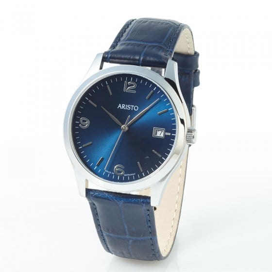 Horloge 'ARISTO BLUE RETRO'