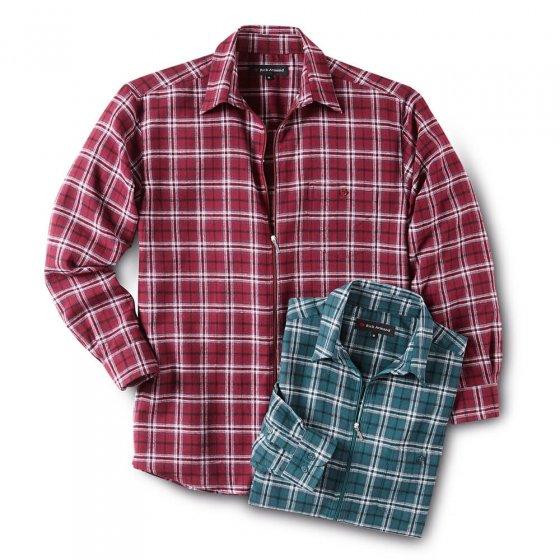 Flanellen overhemd met ritssluiting