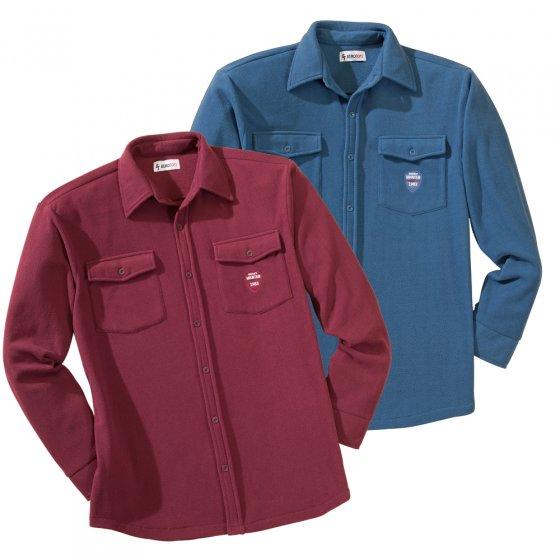 Polar-fleece-overhemd in duo-pack