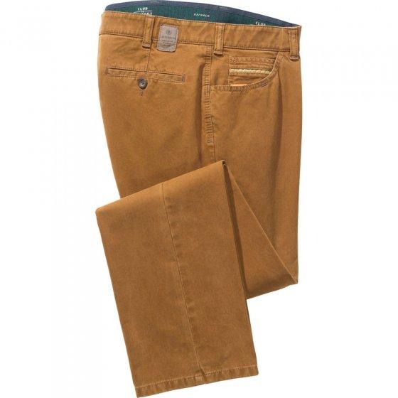 Katoenen broek met kasjmier-finish