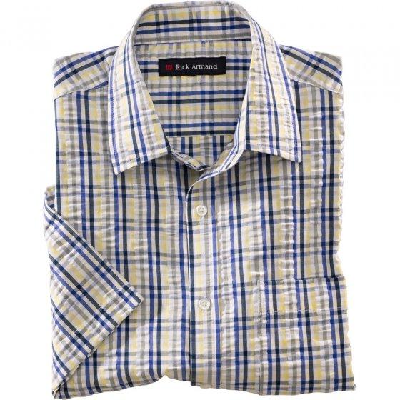 Seersucker-ruitjes-hemd