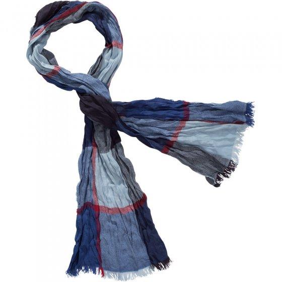 Crash-sjaal Blauw + terra in set