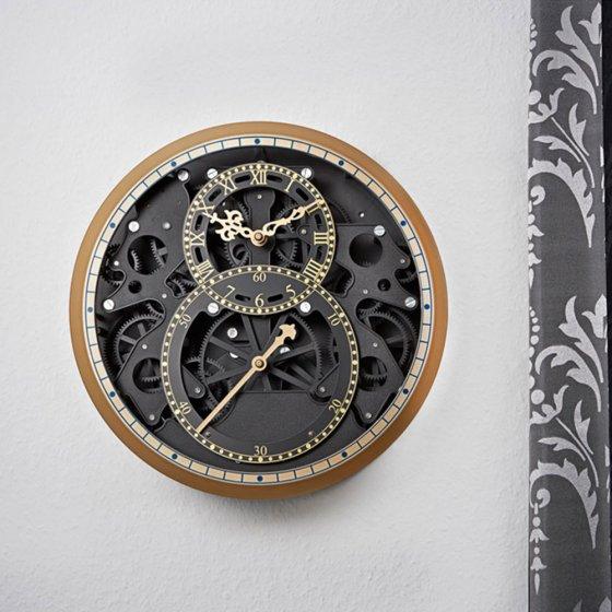 """Skelet horloge """"zwart en goud"""""""