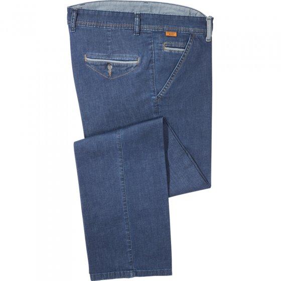 Lichte jeans met contrasten 24 | Jeansblauw