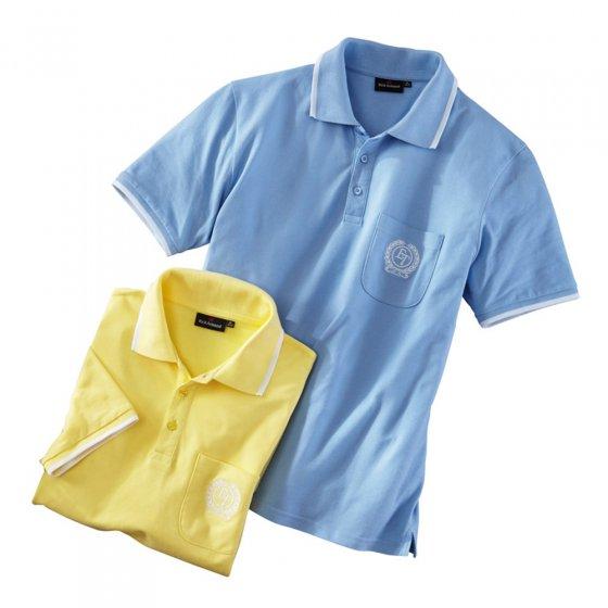 Set van 2 shirts van katoen-piqué