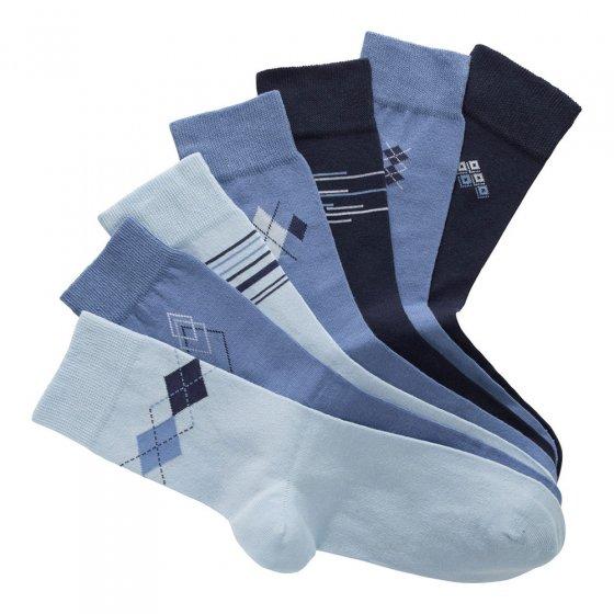 Sokken van katoen-stretch 7 paar