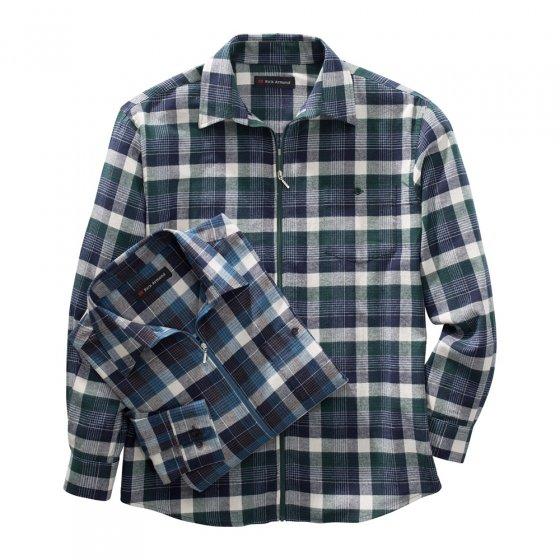 Flanellen overhemd met ritssluiting set van 2