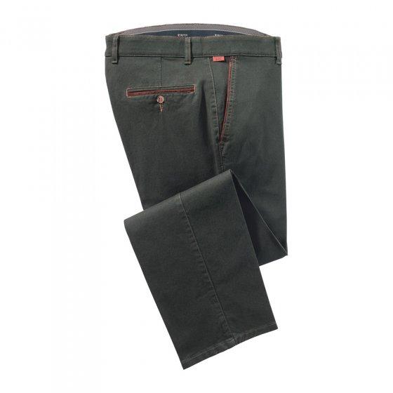 Katoenen broek met contrasten