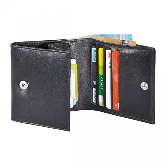 Compacte portemonnee van buffelleer