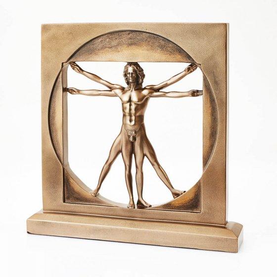 Gebronsd standbeeld 'Vitruvianer'
