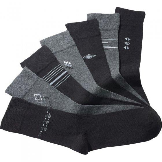Sokken van stretchkatoen 7 paar