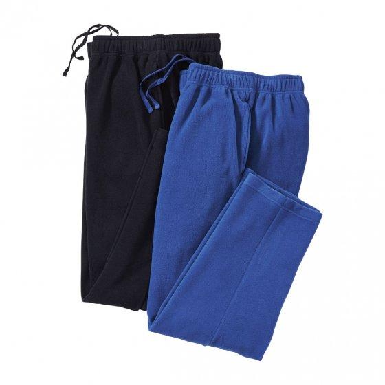 Polar-fleecebroek Set van 2 stuks XL | Zwart#Blauw