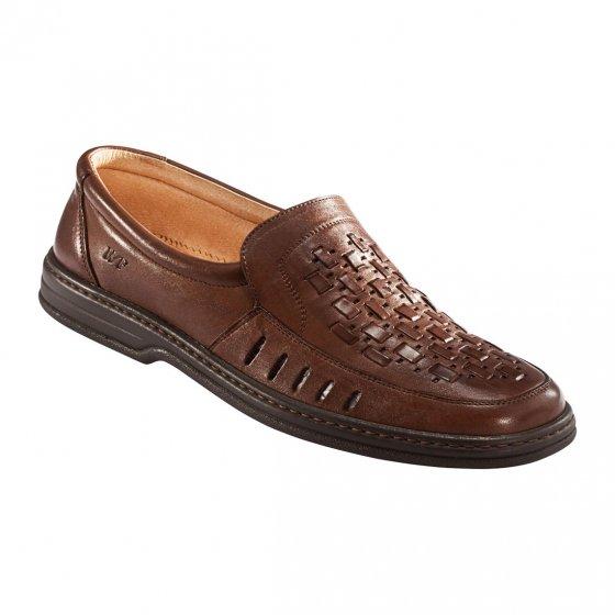 Comfortabele gevlochten schoenen 45 | Bruin