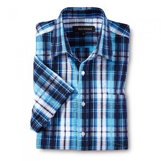 Sportief seersucker-overhemd