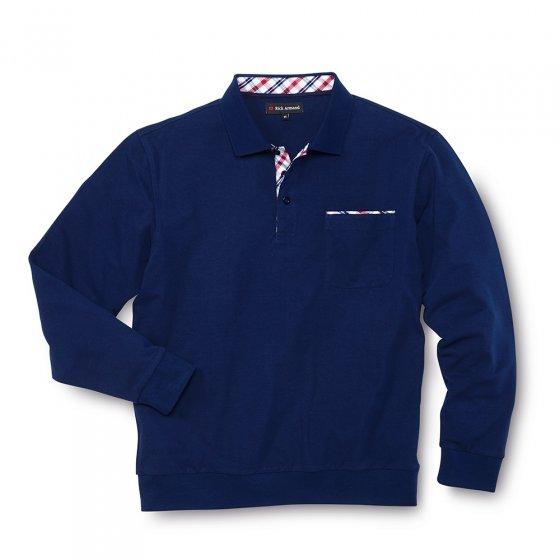 Poloshirt m.lange mouwen,Rood 3XL | Rood