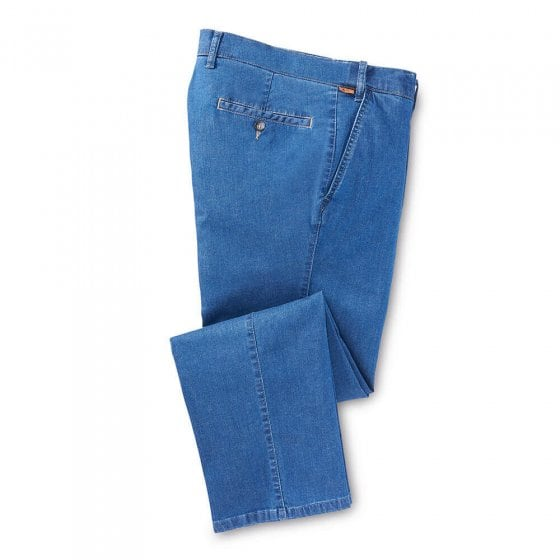 Jeans met stretchband 52 | Jeansblauw