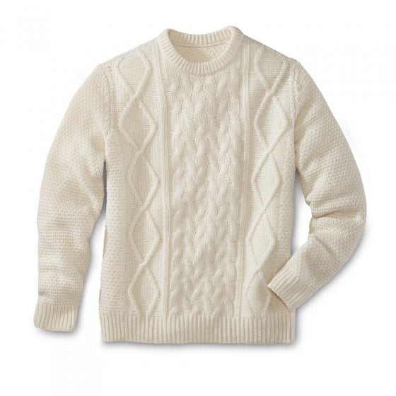 Klassieke trui met ronde hals XXL | Wolwit
