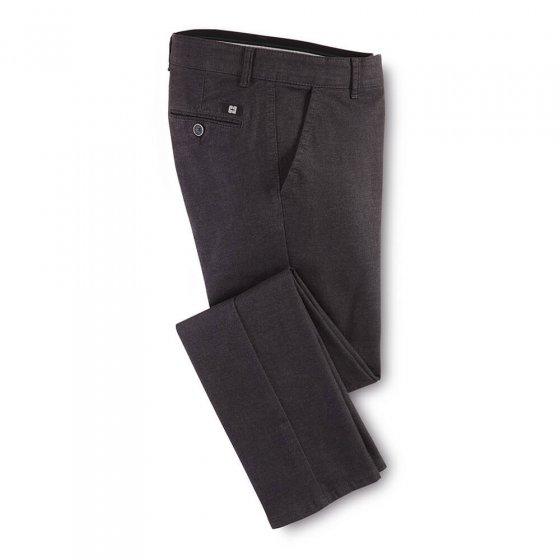 Katoenen broek in wol-look 60   Antraciet