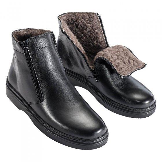 Comfortabele laarzen met lamsvel