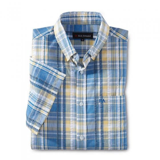 Seersucker-overhemd 'Madras'